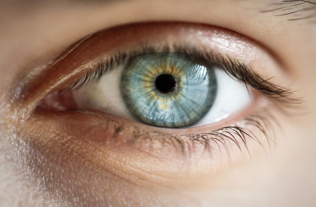 Dilatation de la pupille.