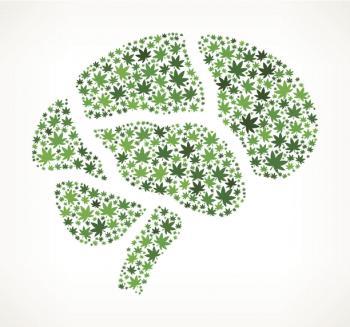 [Marihuana przedstawiająca obraz ludzkiego mózgu]