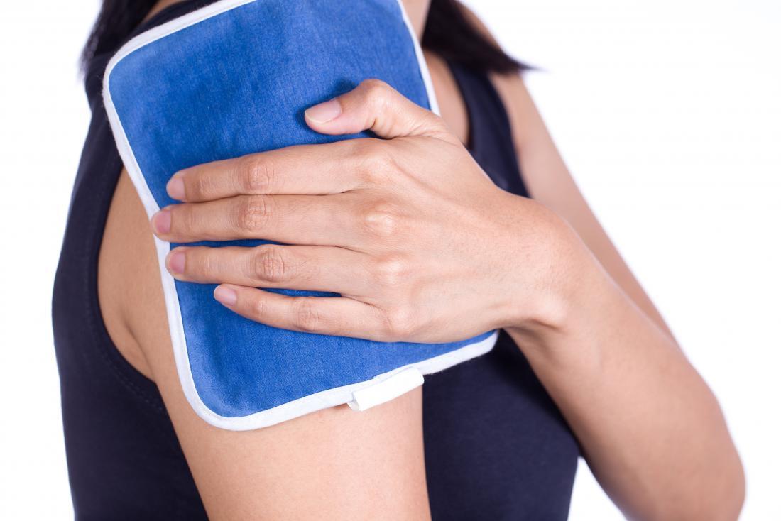 Un sac de glace peut aider à traiter la myosite ossifiante.