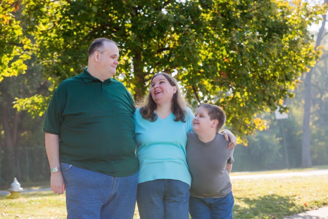 Famille en surpoids
