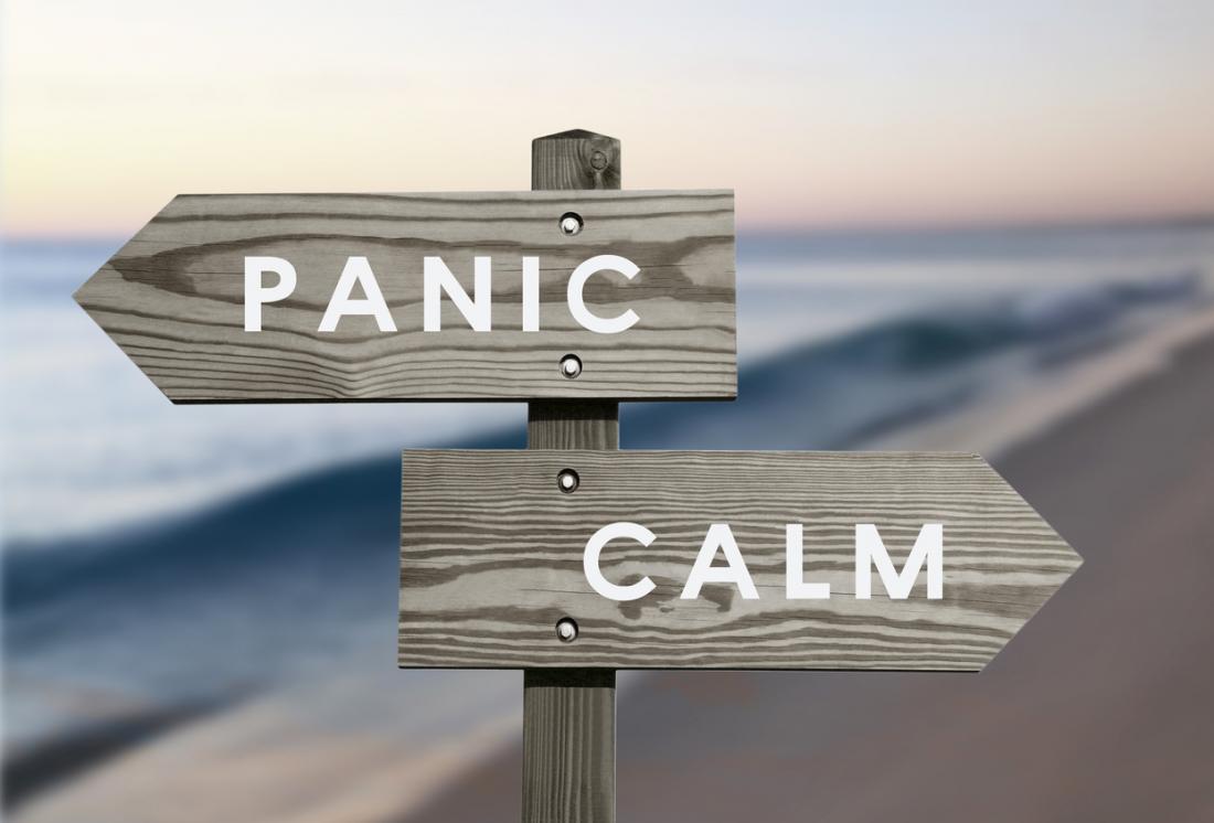 Pânico sinal de calma
