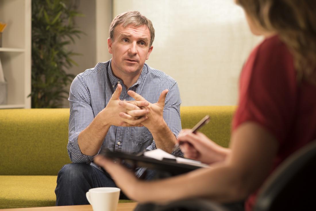 mit einem Therapeuten sprechen