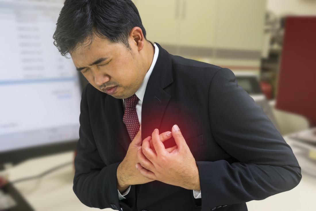 Uomo con malattia coronarica