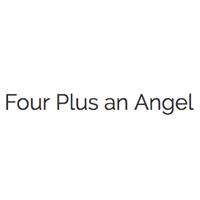 quatre plus un logo d'ange