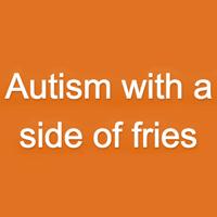 フライドポテトのロゴ付き自閉症