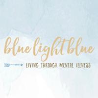 Blaues hellblaues Logo