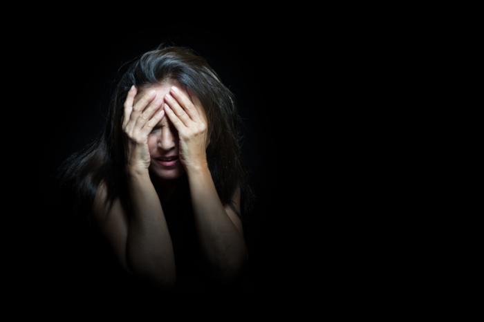 Eine verärgerte Frau
