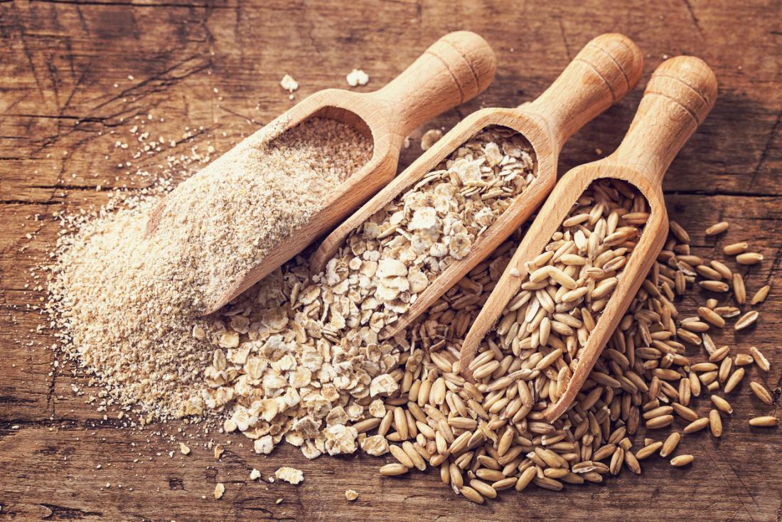 Các loại hạt khác nhau.