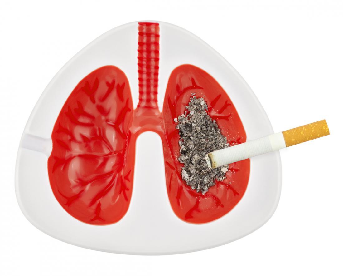 Бели дробове като тавичка за пепел