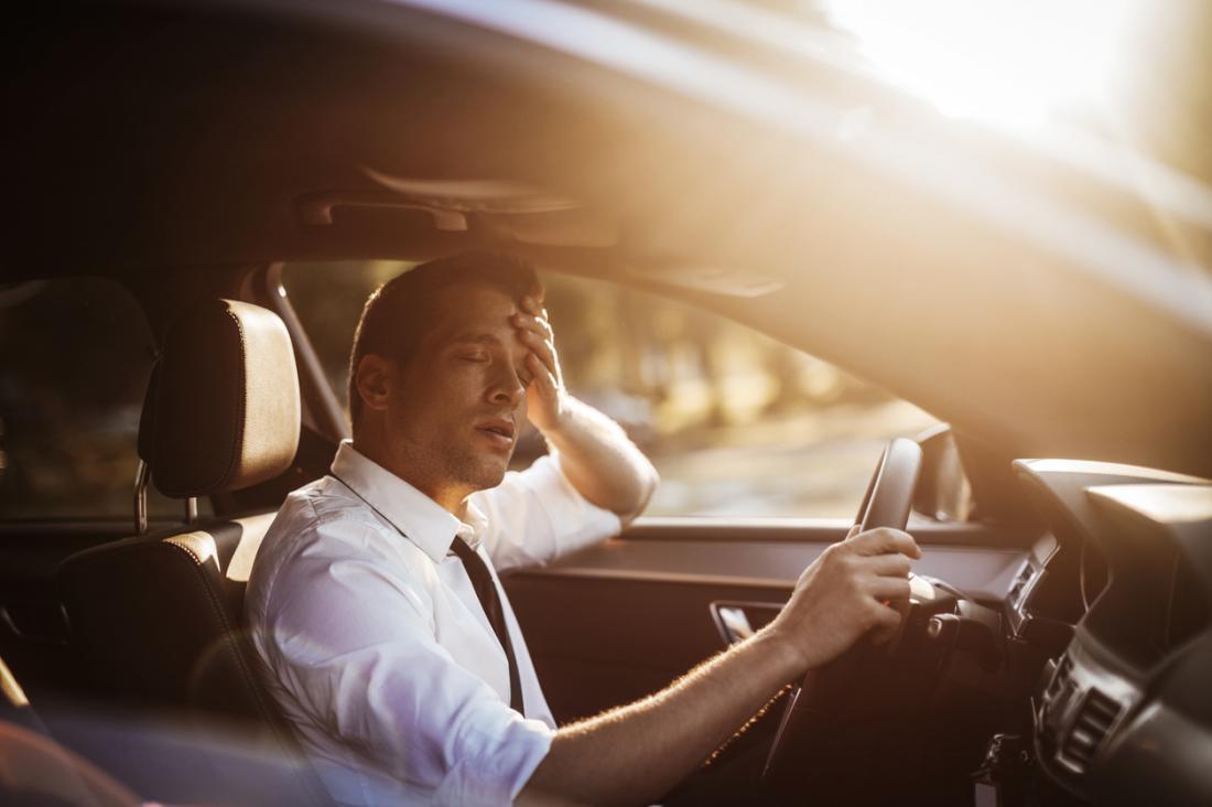 motorista cansado