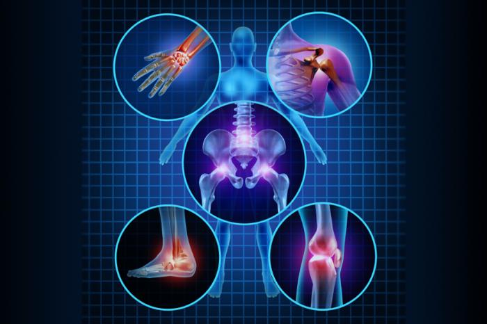 zones d'articulations douloureuses