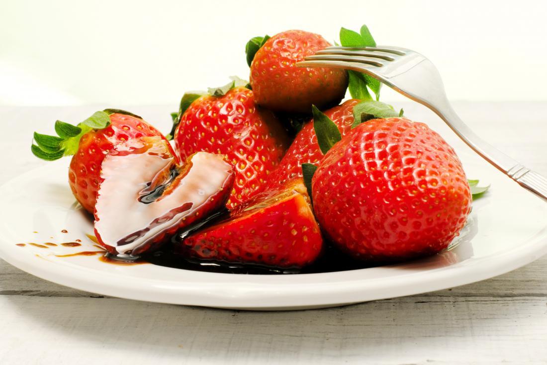fraises et vinaigre balsamique