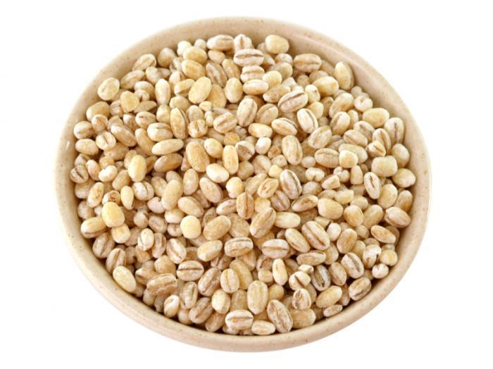 lúa mạch trong một cái bát
