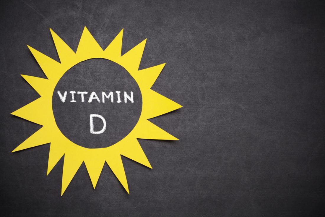 Vitamina D no logotipo do sol
