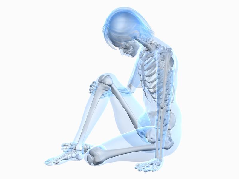 Esqueleto de mulher