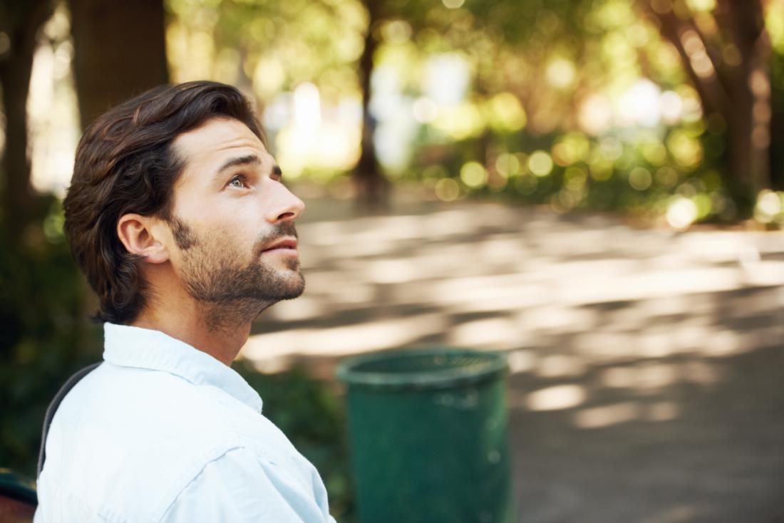 Homme dans le parc.