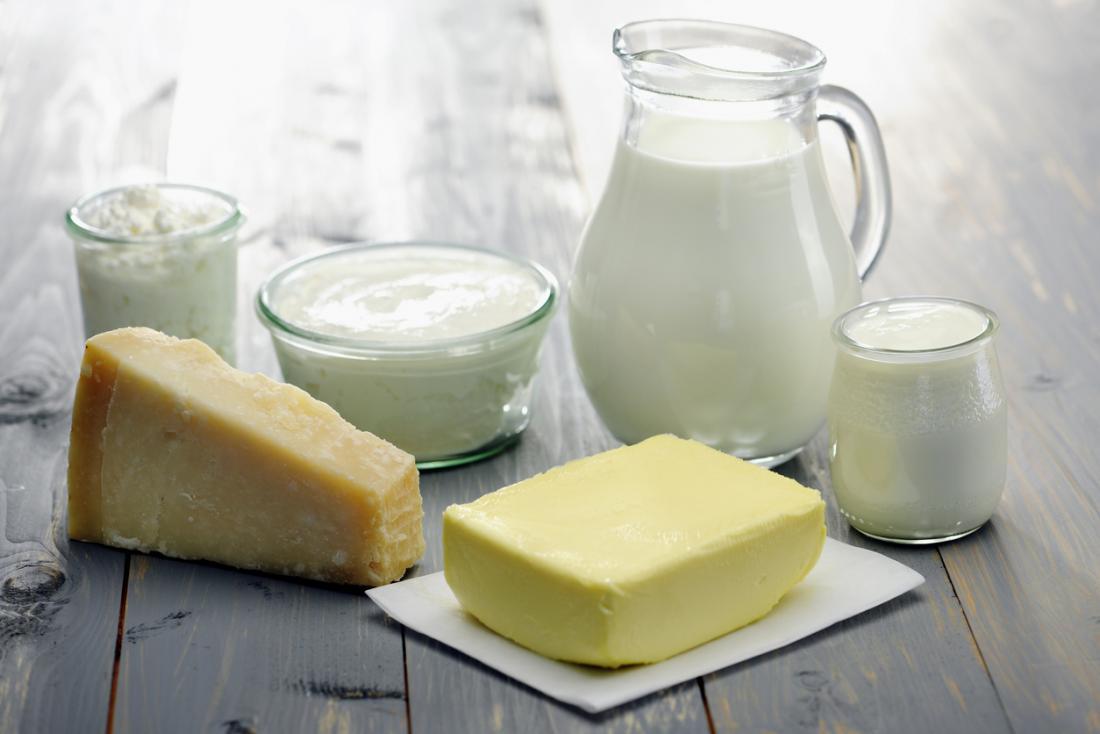 vários produtos lácteos
