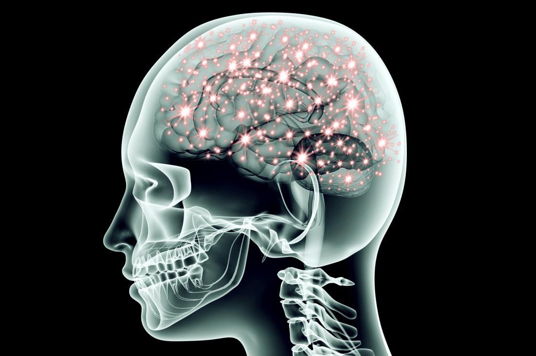 Neuronen, die im Gehirn feuern