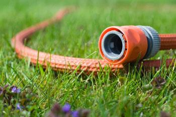 Un tubo da giardino