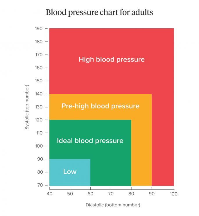 [Pressione sanguigna, cosa è un grafico normale]
