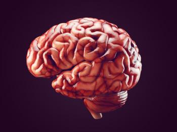 [Realistyczna ilustracja mózgu]