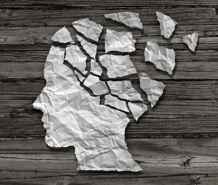Imagem de uma forma de cabeça, com partes desaparecendo