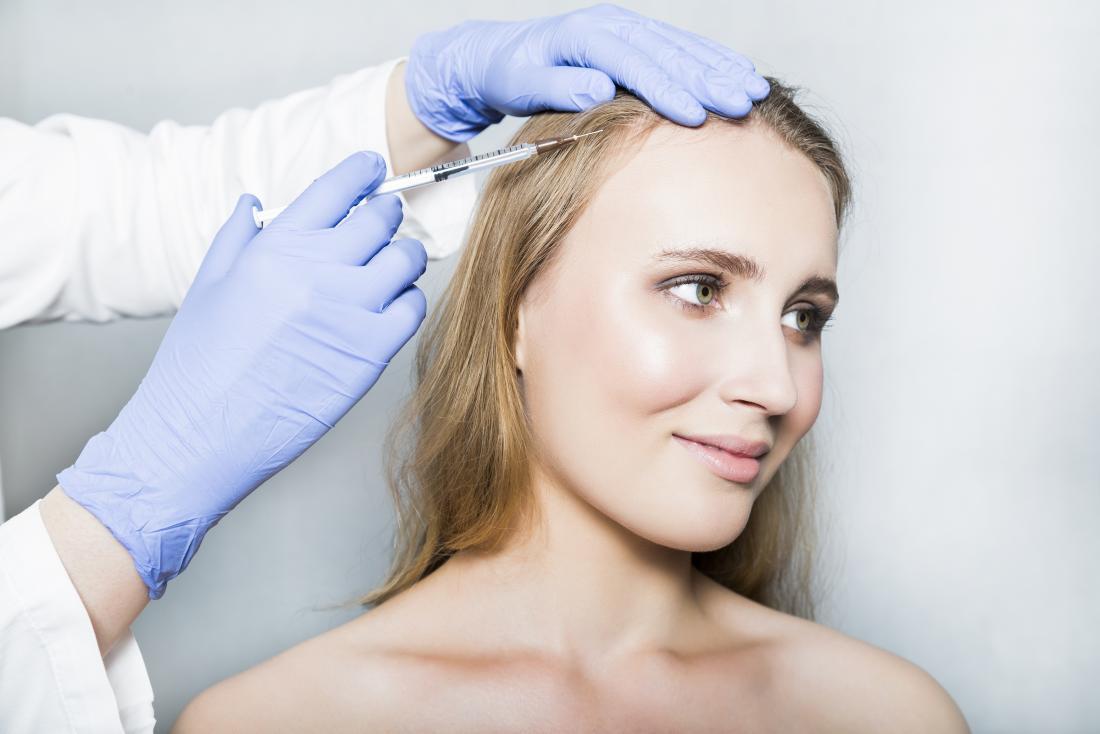 Botox für Haar Kopfhaut-Injektion