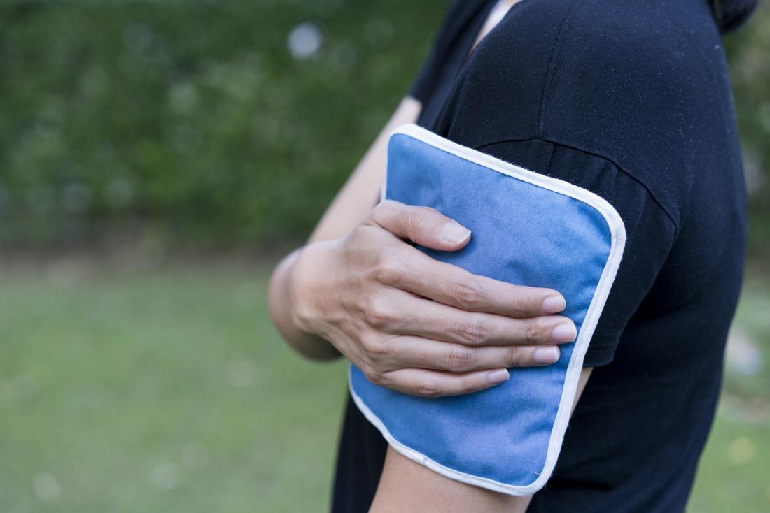 Ледената опаковка на ръката е част от компресията и височината на ледовете