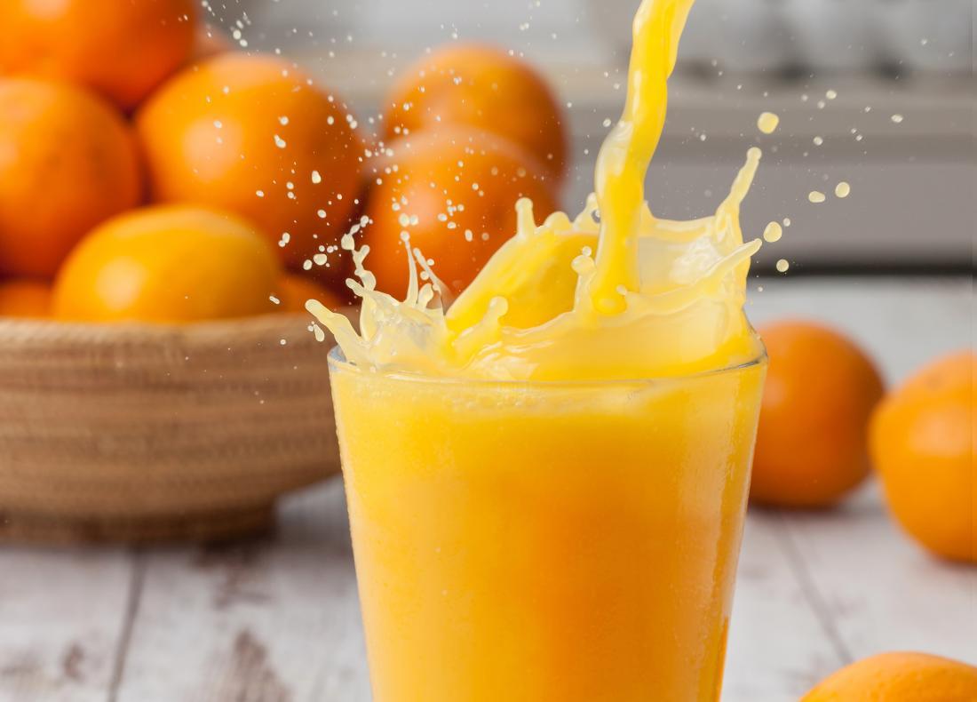 le jus d'orange additionné de fer ne peut être considéré comme une alimentation propre