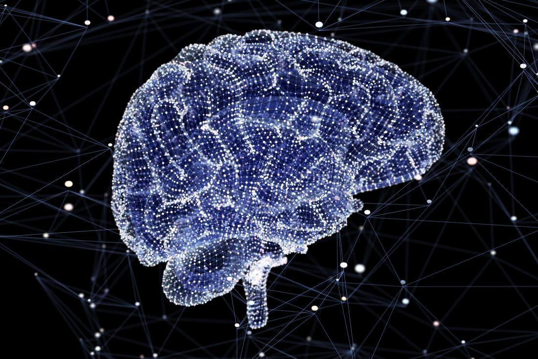 Quelle quantité de cerveau est utilisée représentée par le rendu numérique de l'activité cérébrale.