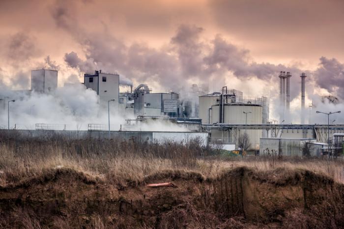 Verschmutzung von einer Fabrik