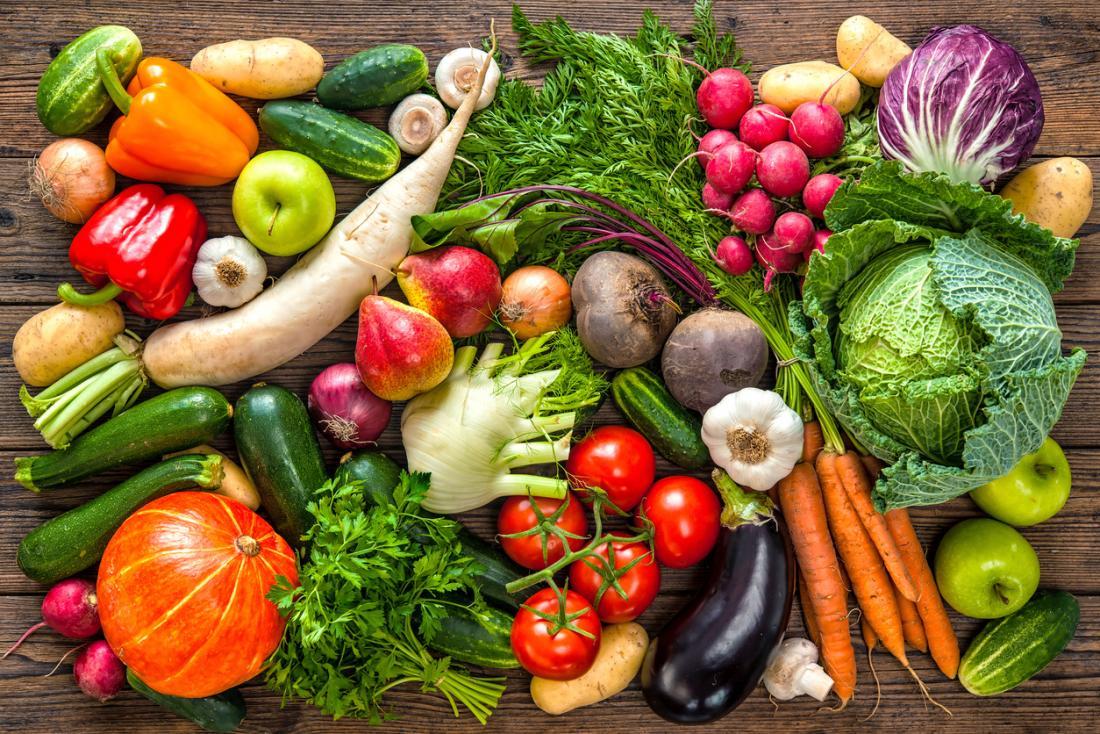 meyve ve sebze seçimi