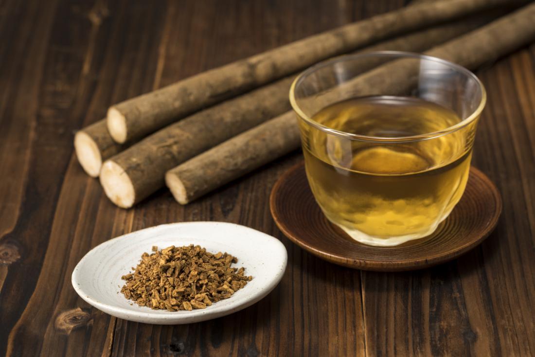 trà ngưu bàng vàng