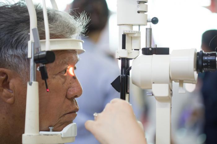 [test oculaire pour le décollement de la rétine]