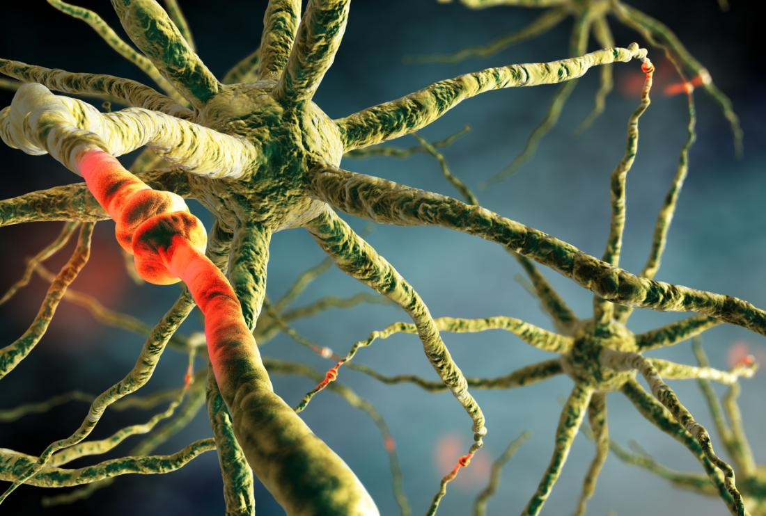 Sinapse do cérebro de neurônios