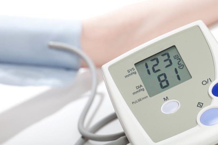 [Stresstest zur Messung des Blutdrucks]