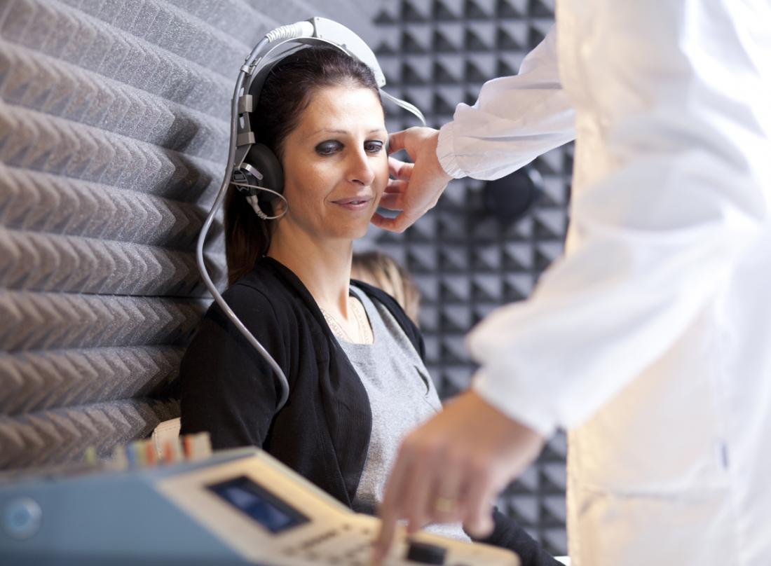 Audiometro o test dell'udito.