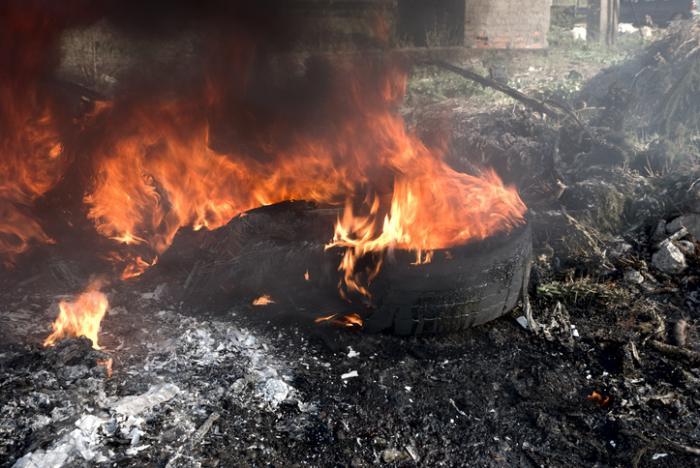 brennende Reifen