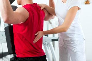 Atleta in fisioterapia