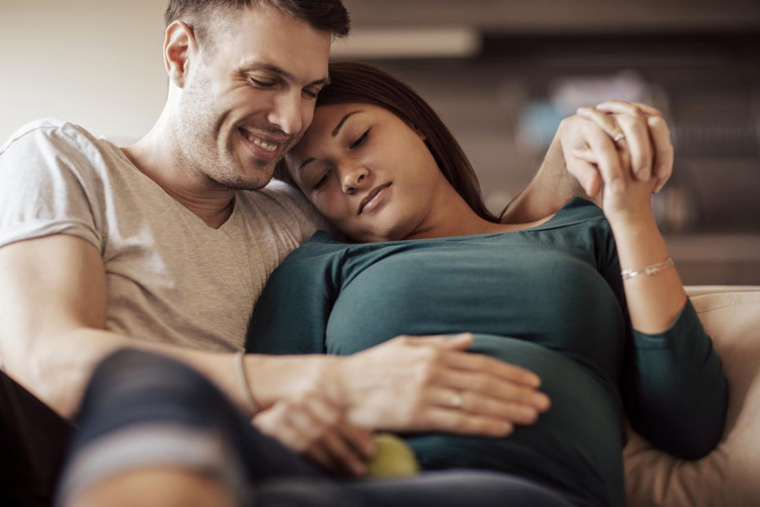 parceiro de gravidez de apoio