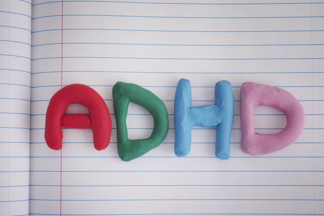 ADHS geschrieben in playdoh