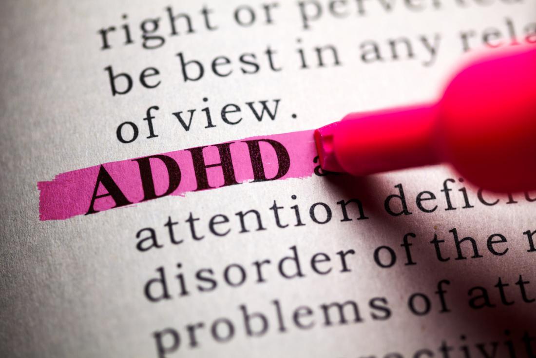 wORD ADHD được tô sáng.