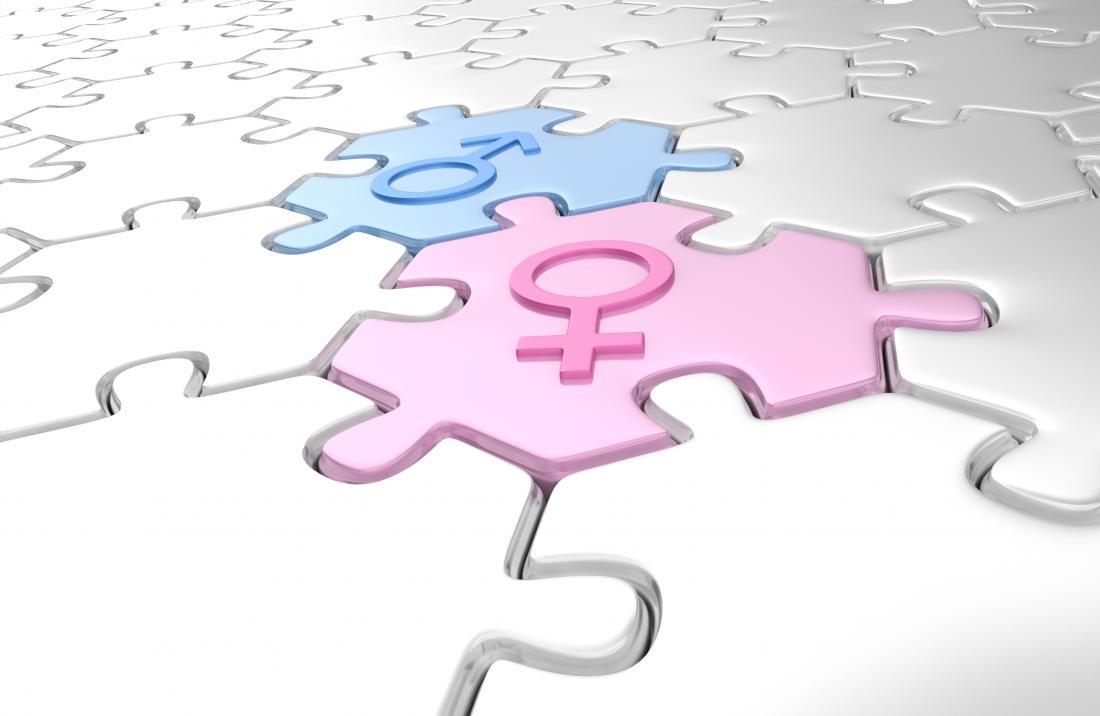 biểu tượng nữ nam trên mảnh ghép