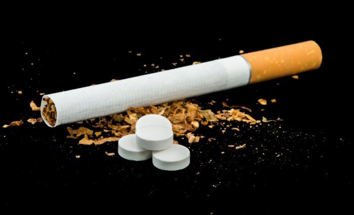 Цигара с хапчета.