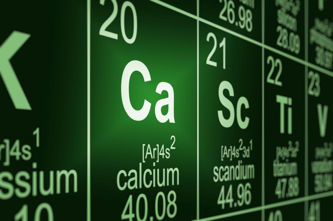 cálcio na tabela periódica