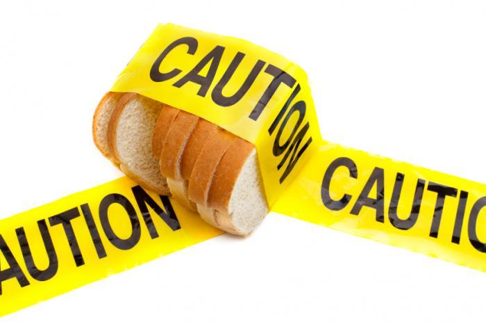 Печен хляб с предпазна лента.