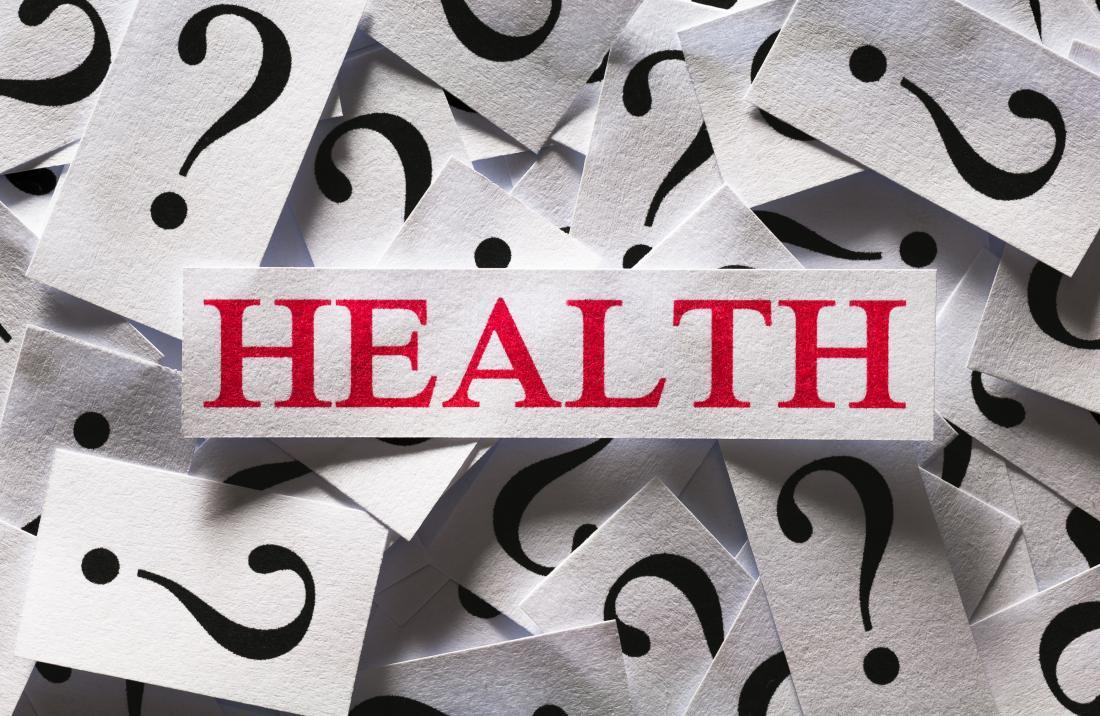 la santé avec des points d'interrogation