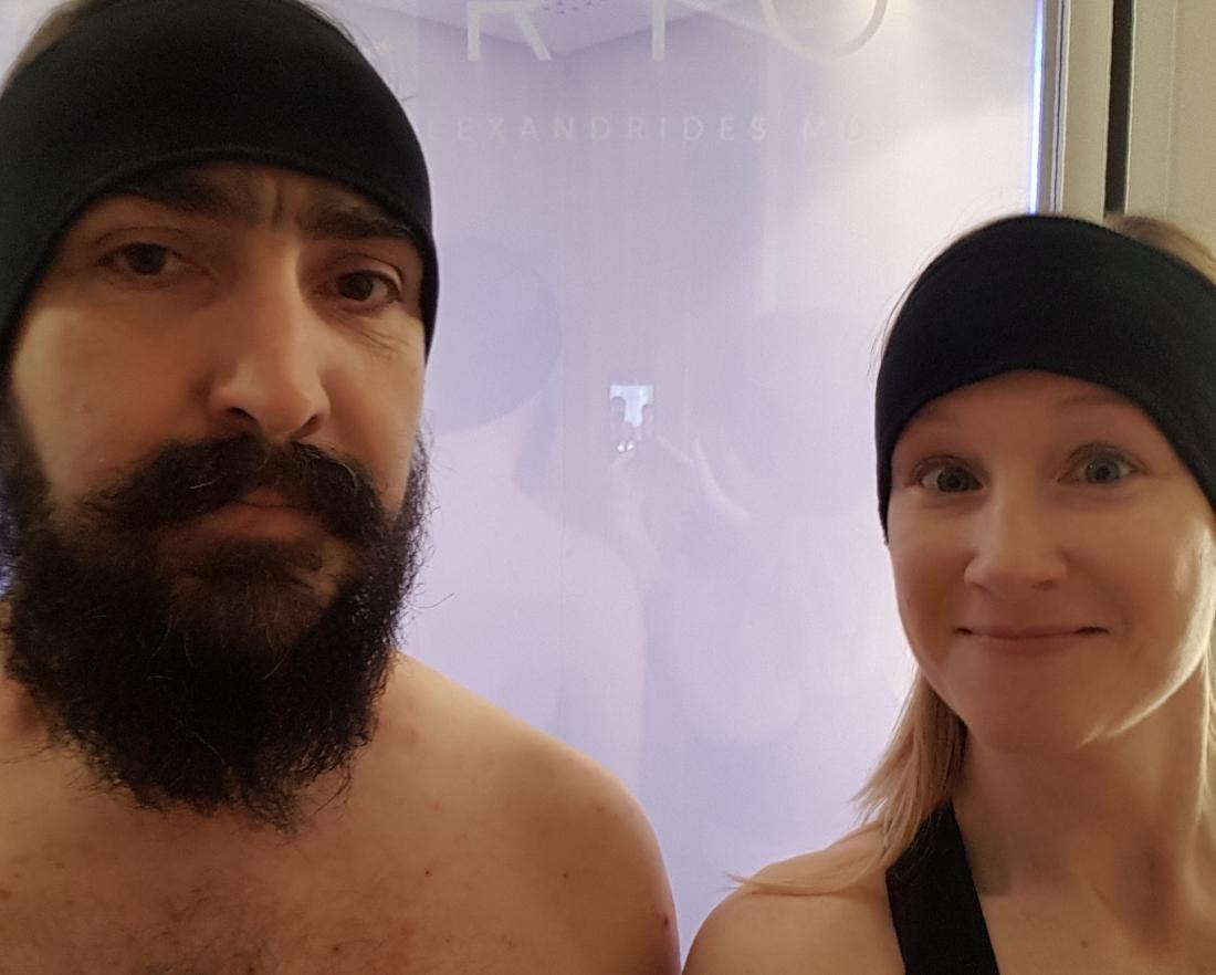 Kriyoterapi öncesi Tim ve Marie