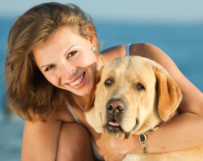 女性と彼女の犬