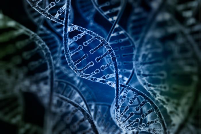 Sợi DNA màu xanh